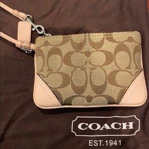 Coach monogram wristlet